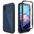 For Motorola Moto E 2020 Case Slim Clear W/Built-In Screen Protector Phone Cover