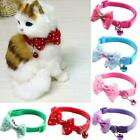 Adjustable Reflective Nylon Cat Safety Collar with Bell For Cat Dog Kitten Y0N7