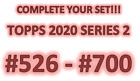 2020 Topps Baseball Series 2 Base Single Cards Complete/Choose/Pick Your Set