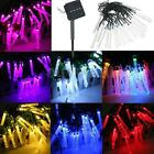 4.8M 20 LED Bubble Icicle Fairy String Light Solar Power Christmas Party W