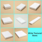 12 X White Large Letter Size Gift Boxes Jewellery Earring Necklace Pendant Boxes