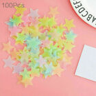 100PCS 3D Wall Glow In The Dark Stars Stickers Kids Bedroom Nursery Room Decor