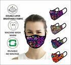Digital Print Face Mask Washable Reusable Double Layer PPE MASKS DUST FILTER SET