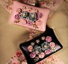 Flower Clutch Evening Bag Embellished with 3D Flowers Pearls and Rhinestones