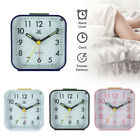 Travel Alarm Clock Non-ticking Bedside Nightstand Quartz Clock Home Decor Gift