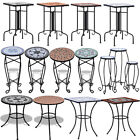 Mosaic Bistro Side Coffee Plant Table Balcony Garden Patio Outdoor Iron/Ceramic