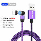 3A 360° Fast Magnetic Cable Type C Micro USB Charger Cord For Android IOS Phone