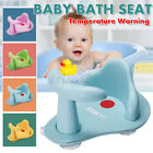 Baby Bath Tub Ring Seat Infant Child Toddler Kids Anti Slip Safety Chair Warning