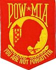 POW/MIA YOU ARE NOT FORGOTTEN MILITARY VET EMBROIDERED MOTORCYCLE MC PATCH L-22