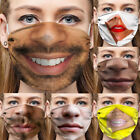 Hot Funny Face Mask Breathable Washable Mouth Protection Reusable Men Women Lot
