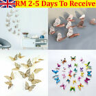 12pcs 3d Butterfly Wall Stickers Home Decor Room Decor Xmas Sticker Bedroom Uk