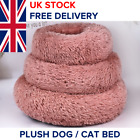 Plush Donut Pet Bed, Dog Cat Orthopedic Relief Bed, Calming Dog Bed for Anxiety
