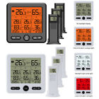 Wireless Thermometer Indoor Outdoor Hygrometer High Precision Thermostat w/Alarm