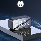 NEW LED Mirror Digital Wireless speakers Alarm Clock MP3 FM Radio v