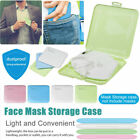 Face Mask Storage Case Face Shield Holder Portable Box Travel Organizer BR