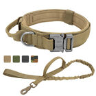 Tactical Dog Collar Leash Set Military K9 Dog Collar with Safety  Comfort Leash