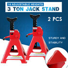 3T 6T 2/4PC Car Adjustable Truck Jack Stand Ratchet Lift Hoist Heavy Duty
