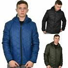Mens Jackets Smith & Jones Full Zip Fleece Lined Hooded Light Weight Warm Coat
