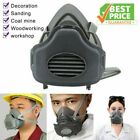 Safety Gas Mask Respirator Half Face Protect Painting Spray Facepiece w/Filters
