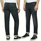 REPLAY jeans da uomo mod. DONNY slim tapared pantalone denim nero stretch MA900