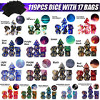 28-119Pcs For Dragons DND RPG MTG Board Game Acrylic Polyhedral Dic