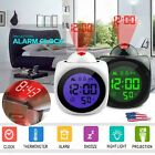 Digital Projection Alarm Clock With LCD Display Voice Talking LED Projector US