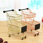 Children Mini Metal Shopping Trolley Kids Pretend Role Play Desk Toy