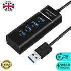 Multi 4 Port USB HUB 3.0/2.0 Powered FAST Extender Adapter Splitter Laptop PC UK