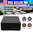 Hot Tub Spa Cover Cap Guard Waterproof Dust Protector Harsh Weather 3 Sizes NEW