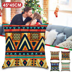 Vintage Totem Flower Polyester Pillow Case Waist Sofa Cushion Cover Home Deco