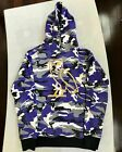OVO OG Owl Hoodie Snow Camo Purple 2015 Gold Embroidered Octobers Very Own Drake