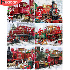 Santa & Christmas Train Scenery Canvas Picture Oil DIY Paint Set by Numbers Kits