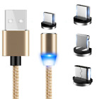 LED Magnetic Charger iPhone IOS Android Type C USB Cable 1M FAST CHARGER