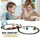 Christmas Electric Train Set Railway Tracks Lights Sounds Gift And Toys L0F0