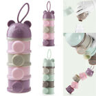 Baby Milk Powder Formula Dispenser Snacks Container Food Box 4 Layers Stackable