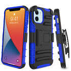 For iPhone 12 mini 5.4-inch Rugged Case Belt Clip Holster Kickstand Hybrid Cover