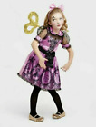 GIRLS WIND UP DOLL S M L 4 6 8 10 12 HALLOWEEN COSTUME CRACKED STEAMPUNK DRESS