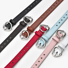 Girls Faux Leather Belt Children Kids Alloy Heart Buckle Pin Decorate Waistband