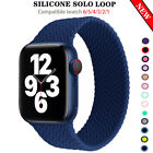 Silicone Band Solo Loop Strap iWatch Elastic For Apple Watch 44mm 40mm 38mm 42mm