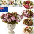 Artificial Fake Silk Peony Flowers Bunch Bouquet Wedding Party Home Garden Decor