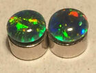 Opal Magnetic Earrings Top Grade Natural Opal Triplets 5mm Round  No Piercing