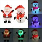 Red Light Up Snowman Santa Claus Christmas Decoration Scarf OR With Hat G8T4