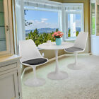 "JAXSUNNY 31.5"" White Tulip Round Dining Table & Chairs Set Mid Century Style New"