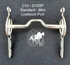 Carriage Driving Liverpool Port Horse Bit Fixed Cheek Style D10 Mini - Large