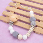 Baby Pacifier Clip Silicone Bead Dummy Soother Chain Holder Shower Gift 22cm