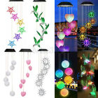 Retro Solar Power Wind Chimes Color Changing Led Light Outdoor Garden Xmas