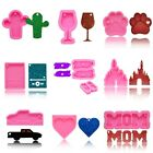 Shiny Cartoon Resin Casting Silicone Mold Keychains for Key Chain Pendant DIY