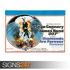 DIAMONDS ARE FOREVER SEAN CONNERY 007 (ZZ095) MOVIE POSTER Poster A0 A1 A2 A3