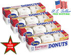Franz Donuts 2Pack OR 4Pack Raspberry Powdered Donuts Raspberry Filled Doughnuts