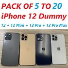 PACK of 5 to 20 Dummies Non-working Fake iPhone 12 + 12 Mini +12 Pro +12 Pro Max
